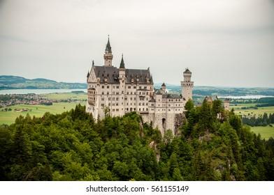 Neuschwanstein Castle views from the Marienbrucke