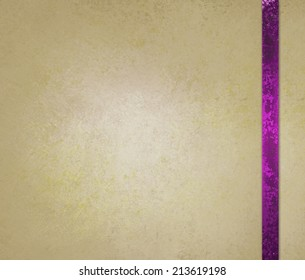 neutral beige or off white background with pink ribbon trim accent
