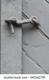 Neutral colored door latch - French Quarter, New Orleans, LA, USA