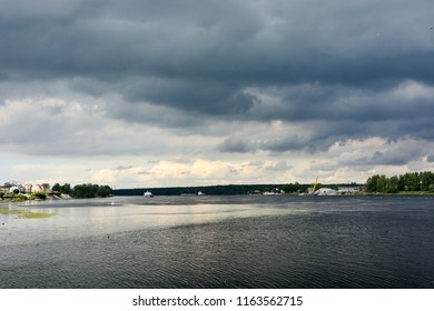 Neva river shore