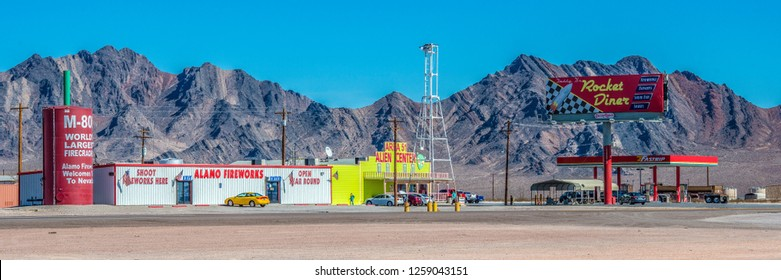 NEVADA, USA, 11-04-2014. Area 51 Alien Center is a popular stopover on the way to Death Valley National Park