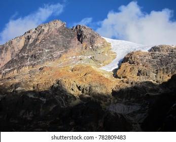 Nevado del Tolima volcano in Los Nevados National Park, Colombia