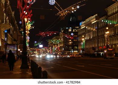 Nevsky Prospect - the main street of Saint Petersburg, Russia