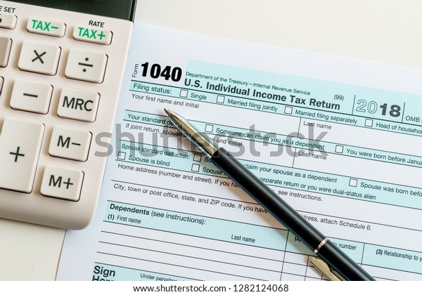 New 2019 Irs 1040 Tax Form Stock Photo (Edit Now) 1282124068