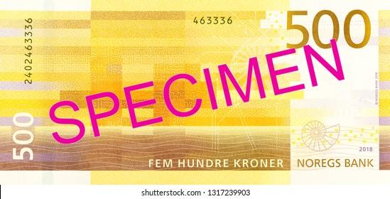 new 500 norwegian krone banknote reverse