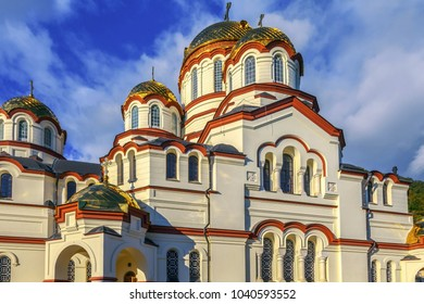 NEW AFON, ABKHAZIA - OCTOBER 21, 2014: The Simono-Kananitsky Monastery.