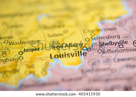 Albany Indiana Map.New Albany Indiana Usa Stock Photo Edit Now 405415930 Shutterstock