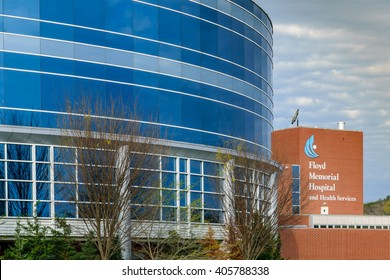 NEW ALBANY, INDIANA, USA - APRIL 10, 2016: Floyd Memorial Hospital and Health Services New Albany Indiana.