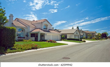 New American dream home panorama