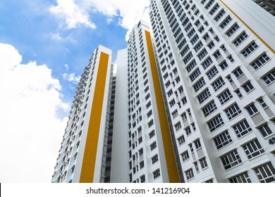 A new apartment building in residential settlement.