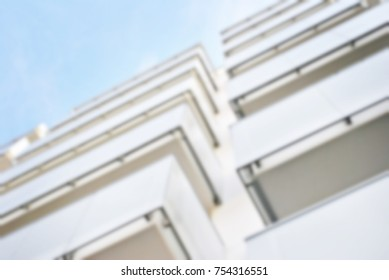 New apartment buildings blurred background