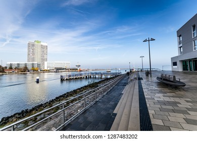 Lubeck-Travemünde with new apartment buildings, overlooking the
