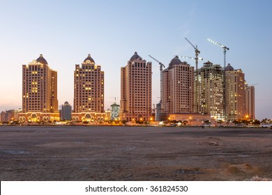 New apartment buildings at The Pearl in Doha. Qatar, Middle East