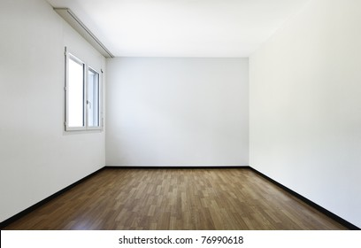 new apartment, empty room with  hardwood floor