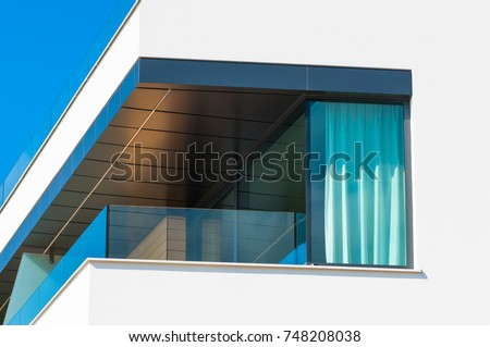 b48f874b6fe4 New Apartment Glass Balcony Terrace Modern Stock Photo (Edit Now ...