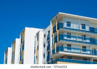 New apartments building flats