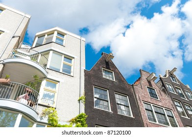 new apartments next to some monumental houses in amsterdam
