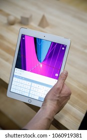A new Apple Inc. iPad 6 is demonstrated at an educational focused event at Lane Technical College Prep High School in Chicago, Illinois, U.S., March 27, 2018.