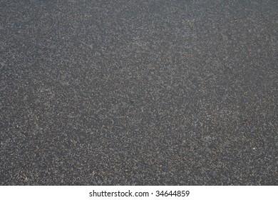 The new asphalt. Close-up.
