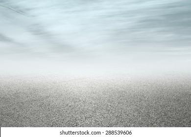 new asphalt road and sky background