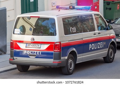 New Austrian Federal Police Van parked, Vienna Austria April.19. 2018