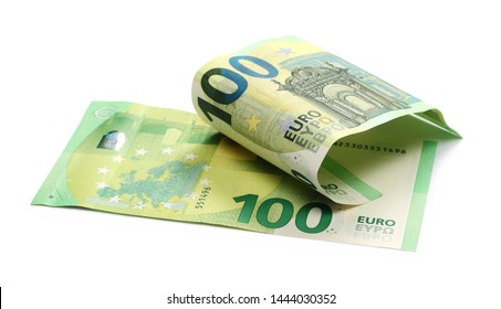 New banknote 100 euro isolated on white