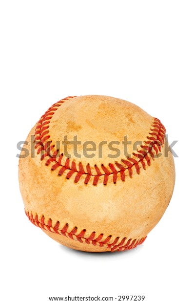 New baseball ball on a white background