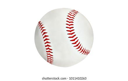 new baseball isolated on white