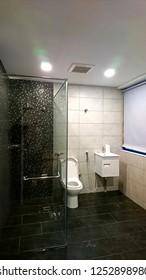 new Bathroom interior after major renovation