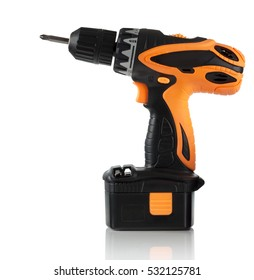 new battery screwdriver on a white background