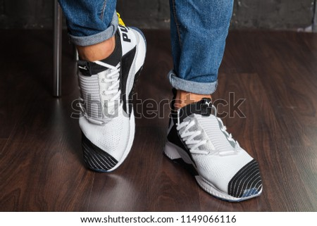 32ee5386e96 New beautiful colorful and nice Puma Ignite running shoes, sneakers,  trainers showing the logo