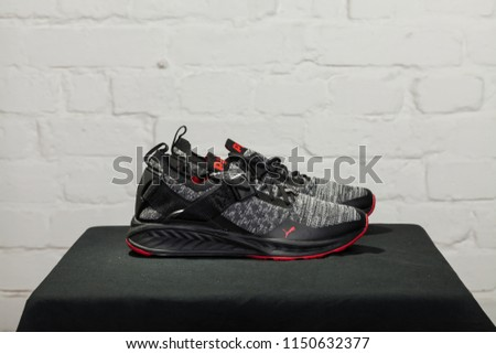 fe2146cbf15 New beautiful colorful and nice Puma Ignite running shoes, sneakers,  trainers shows the logo
