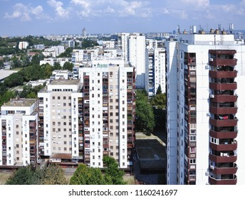 New Belgrade View. Building in the residential part of Belgrade, Serbia.