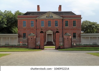 NEW BERN, NC – OCTOBER 4: Tyron Palace was the official residence and administrative headquarters of the colonial governors of North Carolina from 1770 to 1775 October 4, 2017 in New Bern, NC.