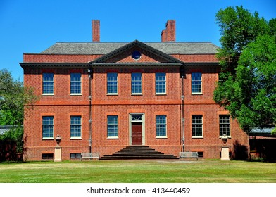New Bern, North Carolina - April 24, 2016:  East front of 1770 Tryon Palace  *