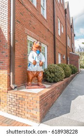 New Bern, North Carolina, USA, February 24, 2017: Bear - symbol of city