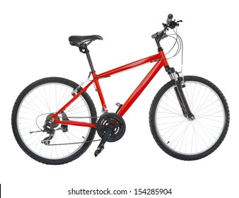 New bicycle isolated on a white background. High resolution (stitched from five shoots)