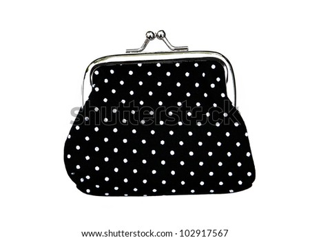 New Black Knit Change Coin Purse Stock Photo Edit Now 102917567