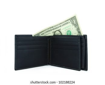 new black wallet with dollar
