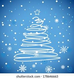 New Blue Christmas Background