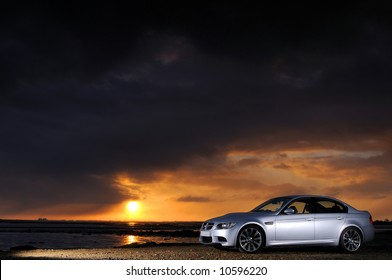 The new BMW M3 Saloon at sunrise