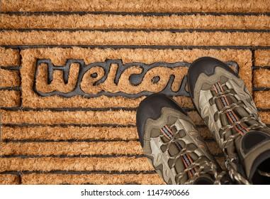 New boots on Door Mat