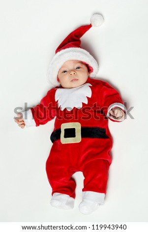 3930ad47a New Born Baby Wearing Santa Claus Stock Photo (Edit Now) 119943940 ...
