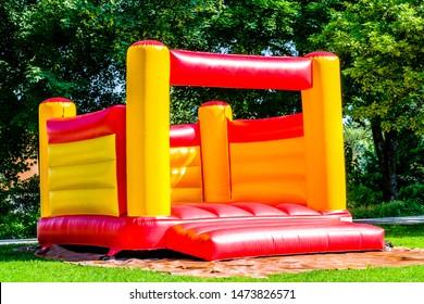 new bouncy castle at a park