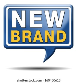 new brand icon or label product promotion and marketing sign