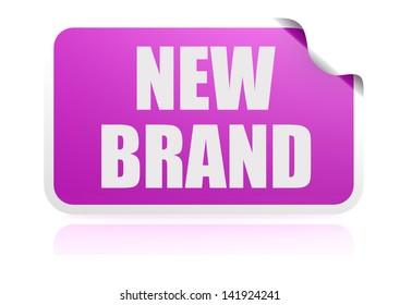 New brand purple sticker
