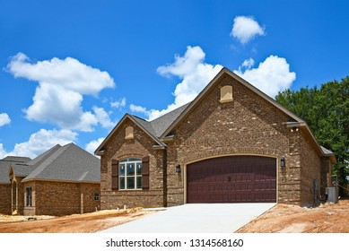 A New Brick House being built in a Subdivision For Sale