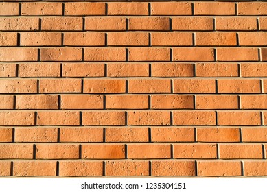 New brick wall abstract background close up