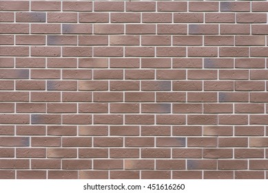 New brick wall closeup