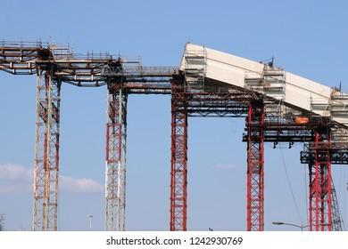 new bridge arc construction site industry